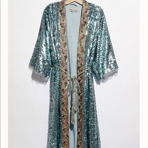 Free People Light Is Coming Embroidered kimono